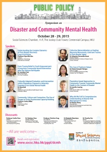 Disaster and Community Mental Health_HKU_October